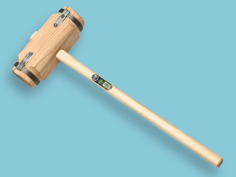 Houten sleg / tuinhamer Fries model met 110cm steel