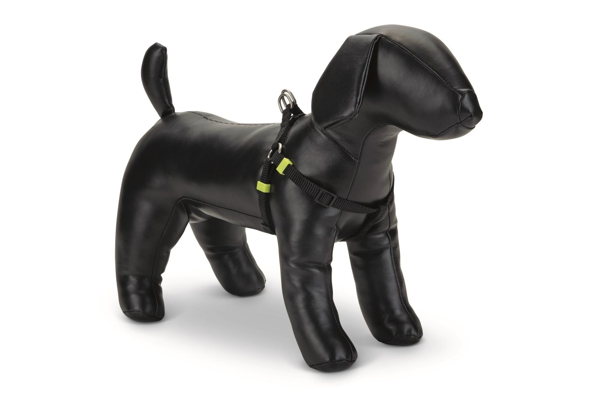 Honden borsttuig Uni nylon Beeztees zwart
