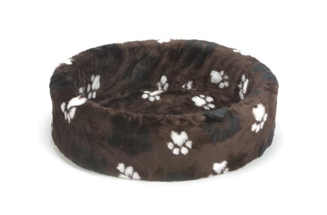 Beeztees hondenmand / teddymand voetprint bruin 50cm