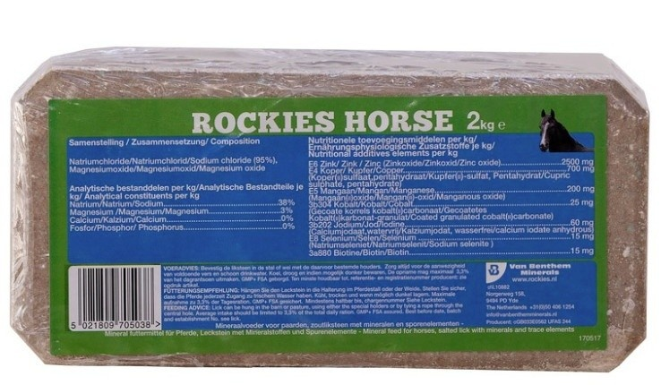 Liksteen Rockie Horse 2kg 10 stuks