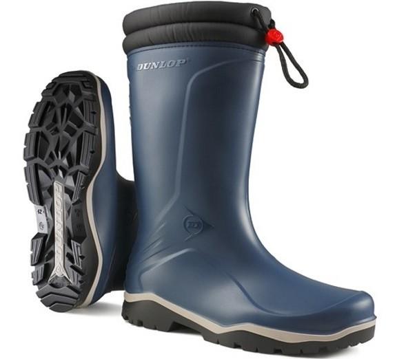 Gevoerde laars Dunlop Blizzard blauw