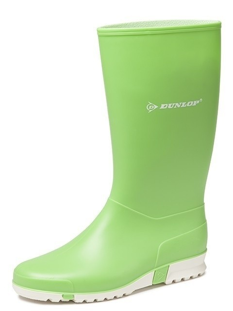 Dameslaars Dunlop PVC licht groen