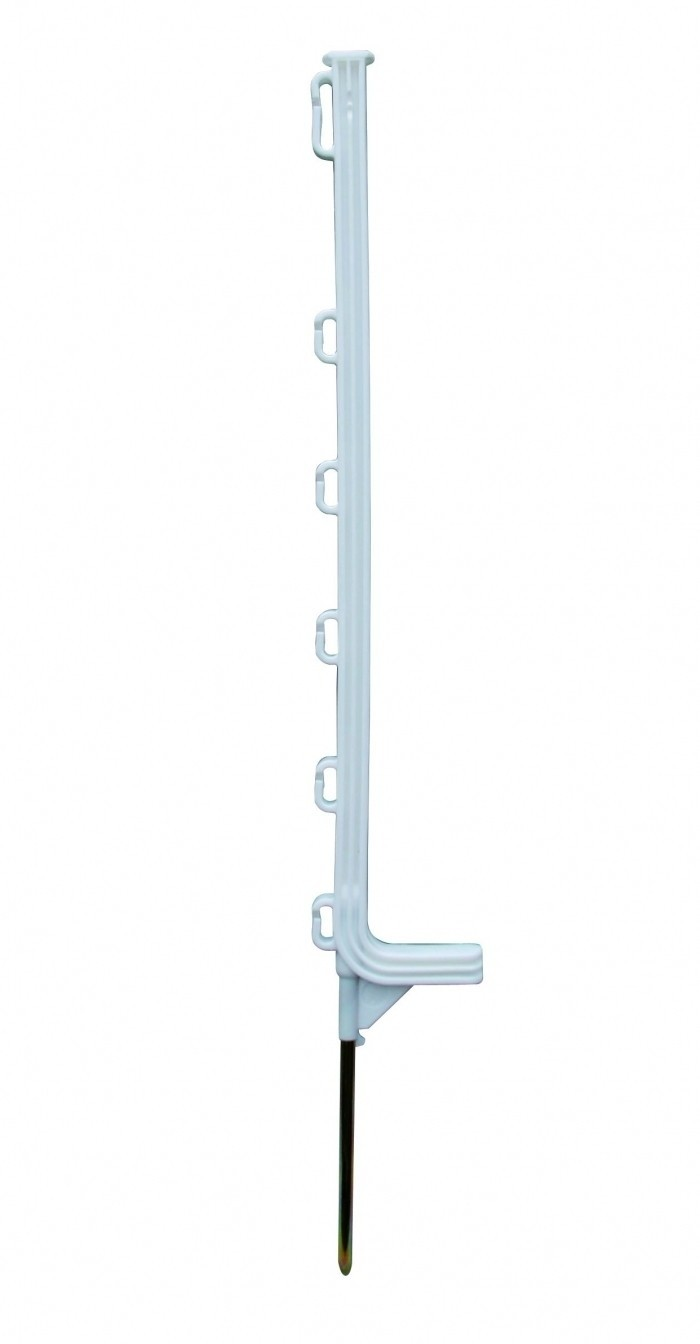 Horizont kunststof paal Extra wit 6-ogen 75cm 10 stuks