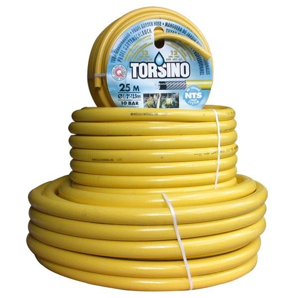Waterslang / tuinslang Torsino geel 19mm (3/4 inch) 50mtr