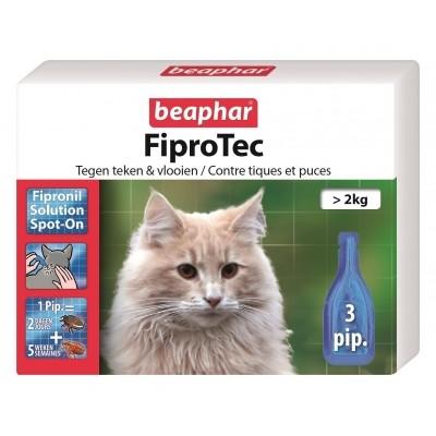 Foto van Beaphar Fiprotec kat vlooien/teken 3 pipet