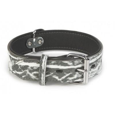 Foto van Leren halsband hond Beeztees Safari zwart 60X40