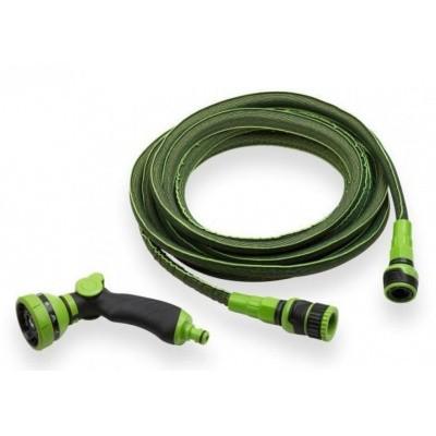 Foto van Flexibele tuinslang 'strech' groen 7.5 tot 15mtr