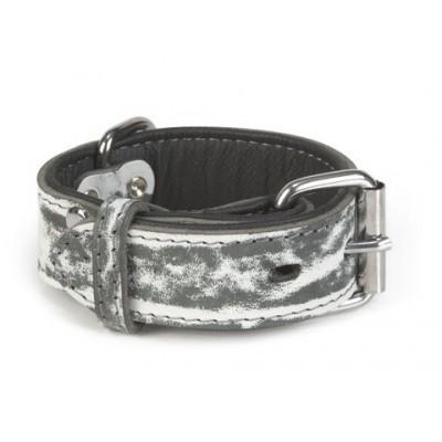 Foto van Leren halsband hond Beeztees Safari zwart 40X35