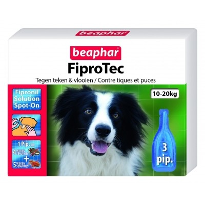 Foto van FIiprotec hond vlooien/teken 10-20kg 3 pipet