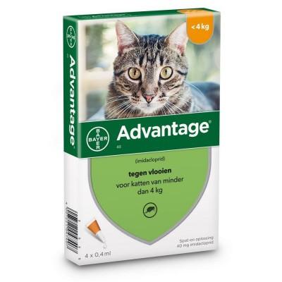 Foto van Bayer Advantage 40 voor katten tot 4kg