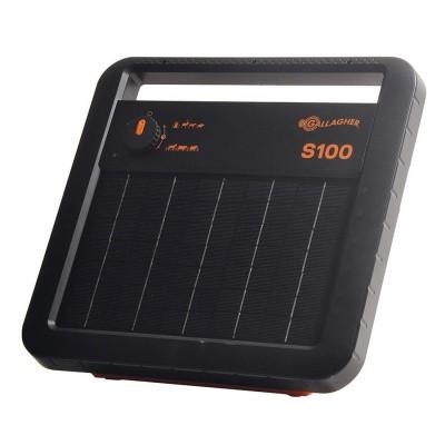 Foto van Schrikdraadapparaat Gallagher S100 solar (zonne-energie) inclusief accu.