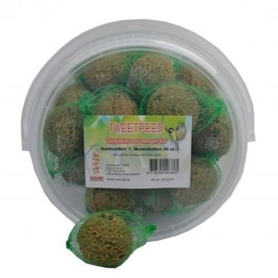 Emmer vetbollen / mezenbollen voor buitenvogels 30 stuks