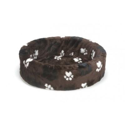 Foto van Beeztees hondenmand / teddymand voetprint bruin 50cm