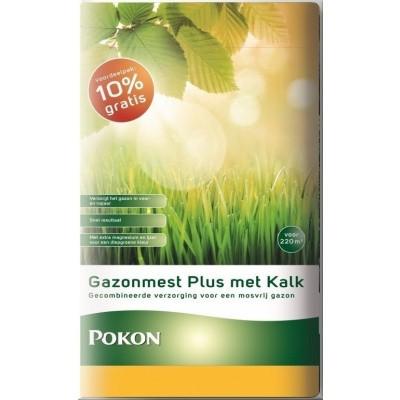 Foto van Pokon Gazonmest plus Kalk 20+2kg gratis