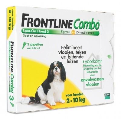 Frontline Combo spot on Hond Small 2-10kg 3 pipet