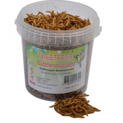 Foto van Gedroogde meelwormen 1000ml