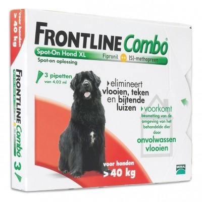 Foto van Frontline Combo spot on Hond XLarge vanaf 40kg 3 pipet