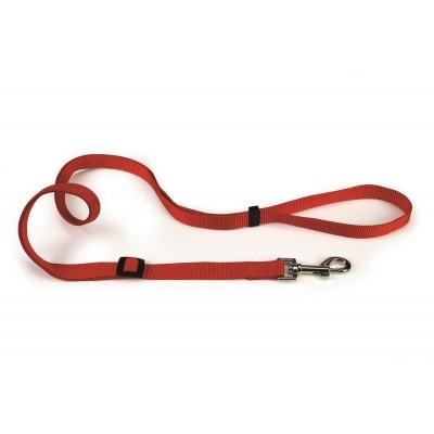 Foto van Hondenlooplijn nylon verstelbaar Beeztees rood