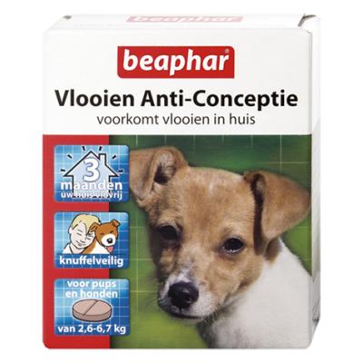 Foto van Beaphar vlooien anti conceptie hond 2.6 - 6.7kg