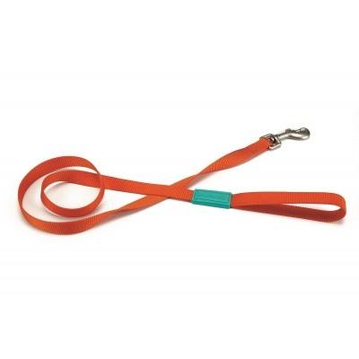 Foto van Hondenlooplijn Uni nylon Beeztees oranje