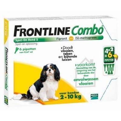 Foto van Frontline Combo spot on Hond Small 2-10kg 6 pipet