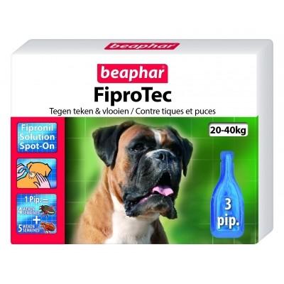 Foto van Beaphar Fiprotec hond vlooien/teken 20-40kg 3 pipet