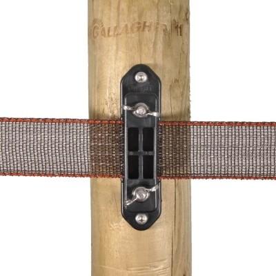 Foto van Gallagher TurboLine hoekisolator voor lint met vleugelmoer (30 stuks)