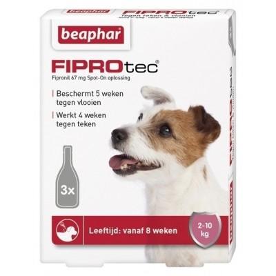 Foto van Beaphar Fiprotec hond vlooien/teken 2-10kg 3 pipet