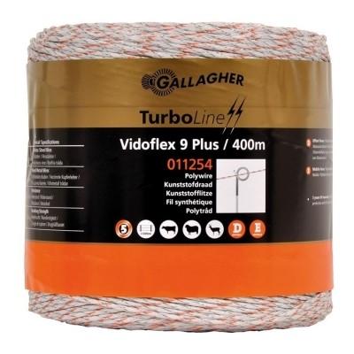 Schrikdraad Gallagher Vidoflex 9 Turboline wit 400mtr