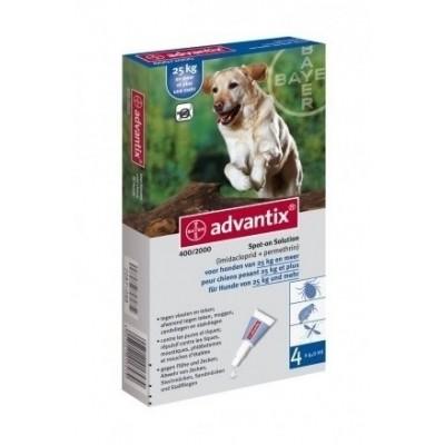 Foto van Bayer Advantix 400 vlooien/teken 4 pipet