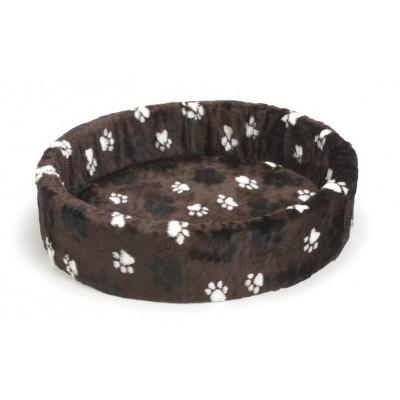 Foto van Beeztees hondenmand / teddymand voetprint bruin 80cm