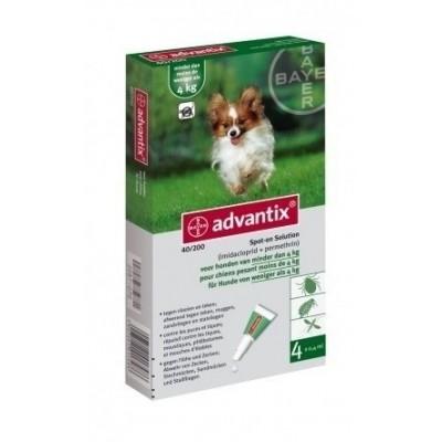 Foto van Bayer Advantix 40 vlooien/teken 4 pipet