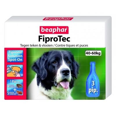 Foto van Beaphar Fiprotec hond vlooien/teken 40-60kg 3 pipet