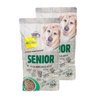 Foto van Ecostyle hondenvoer Senior duopack 2x12kg