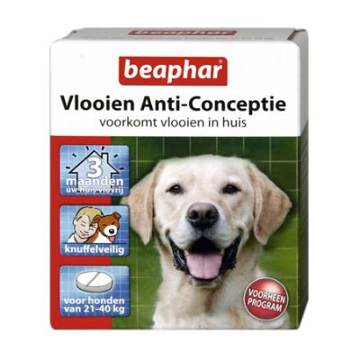 Foto van Beaphar vlooien anti conceptie hond 21-40kg