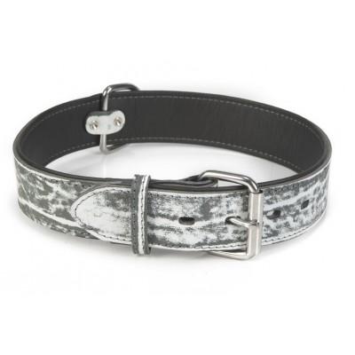 Foto van Leren halsband hond Beeztees Safari zwart 80X45