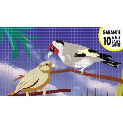 Foto van Volièregaas vierkant verzinkt 19/1.05 - 150cm hoog x 25mtr
