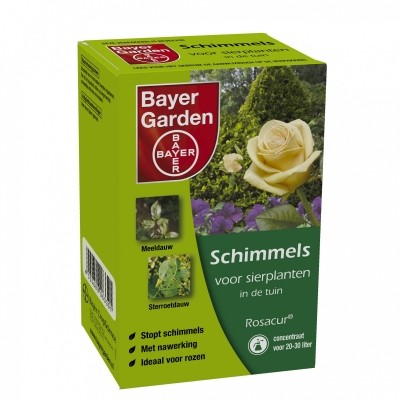 Foto van Rosacur Bayer tegen o.a. sterroetdauw en meeldauw