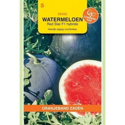 Watermeloen Red Moon/Red Star F1 Hybride Oranjeband