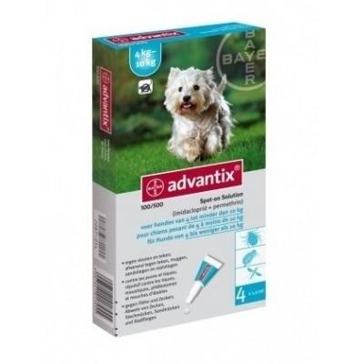 Foto van Bayer Advantix 100 vlooien/teken 4 pipet