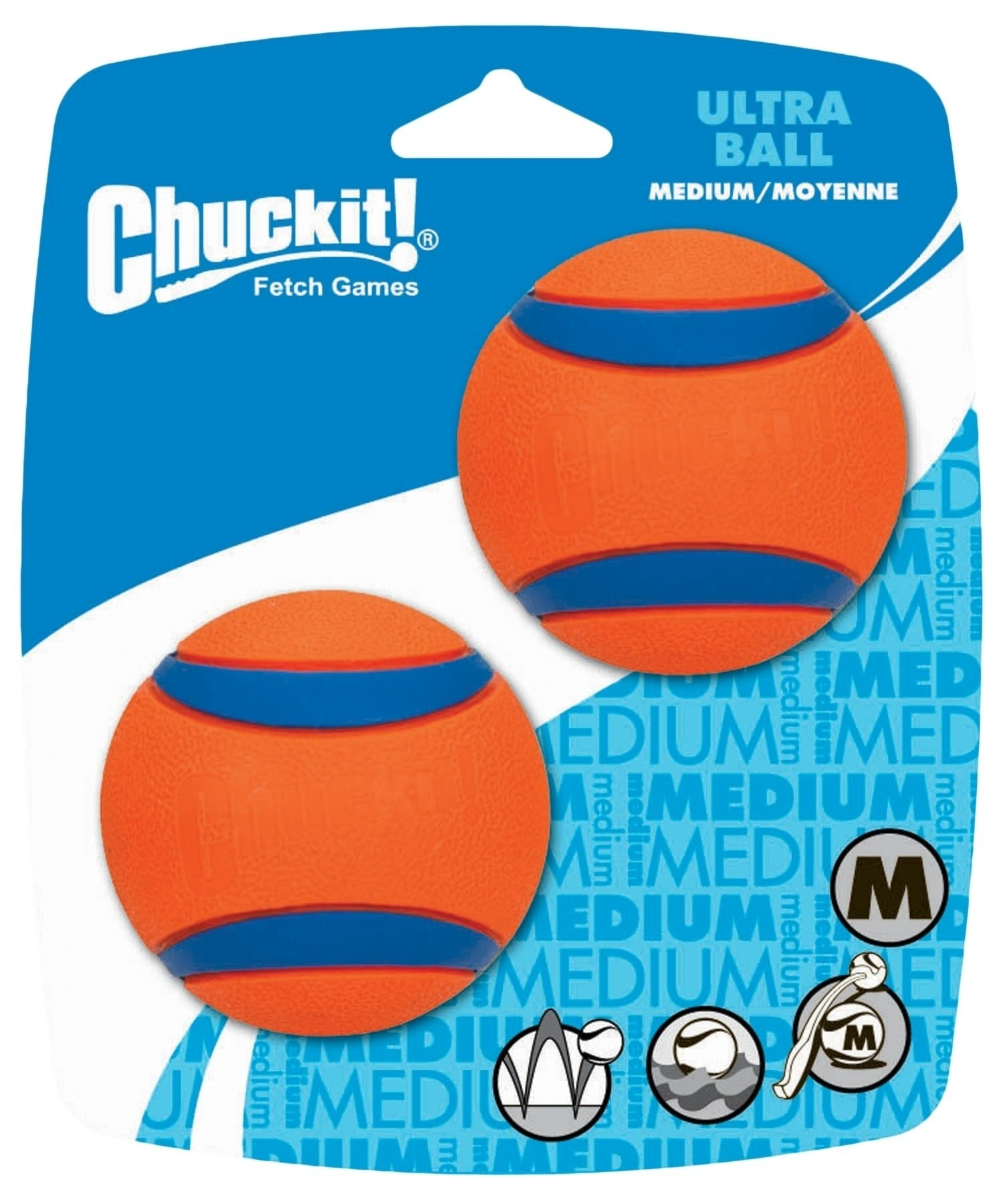 Chuckit Ultra Ball Medium 2 stuks