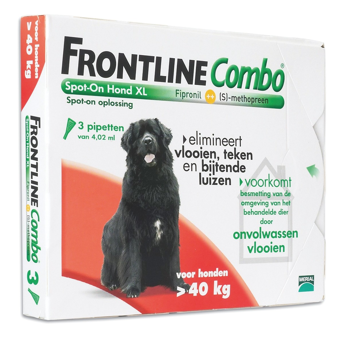Frontline Combo spot on Hond XLarge vanaf 40kg 3 pipet