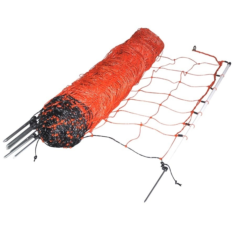 Schapennet / afrasteringsnet oranje 90cm X 50mtr enkele grondpen