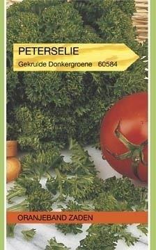 Peterselie Gekrulde Donkergroene. Oranjeband