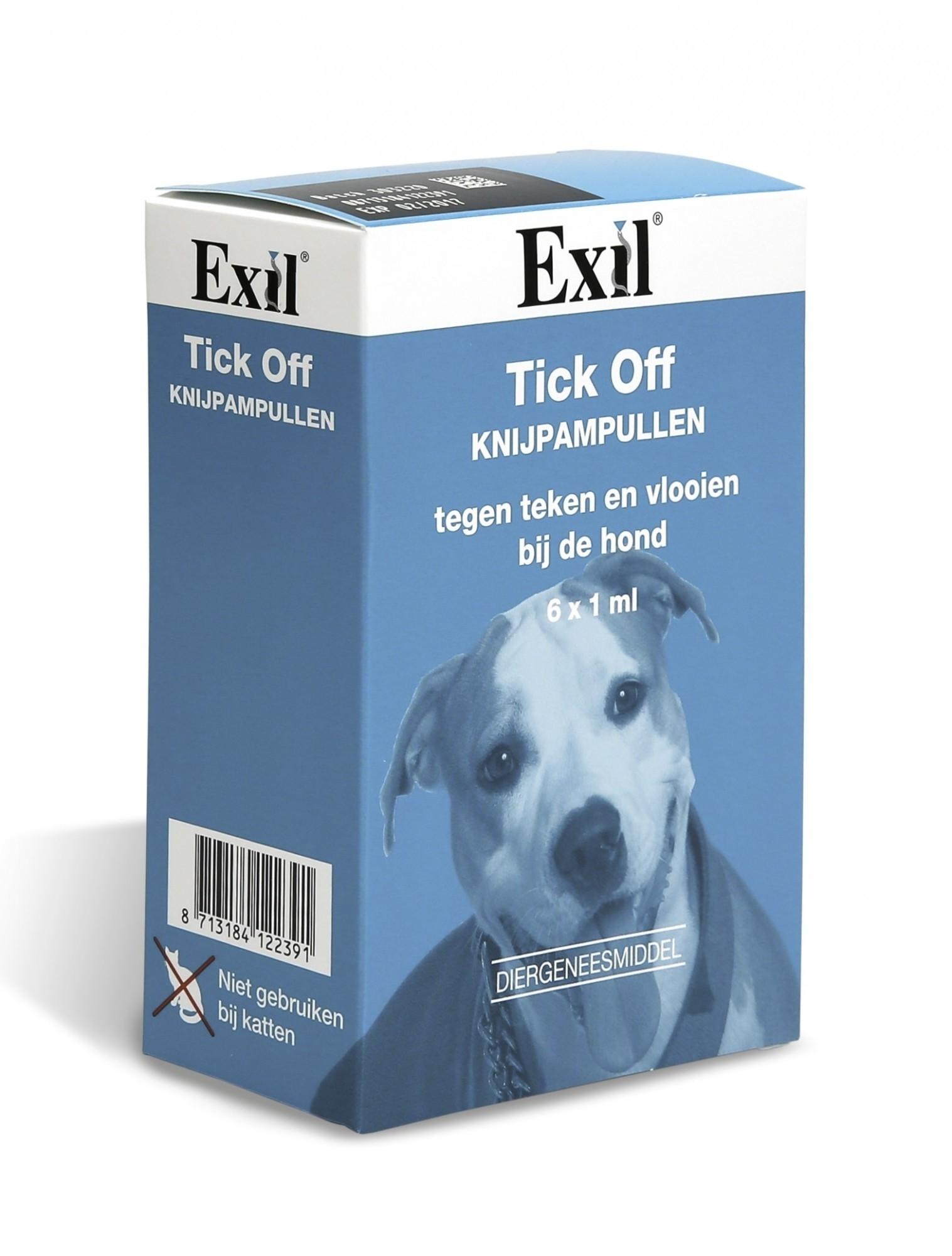 Tick Off tegen vlooien en teken hond 6 pipet
