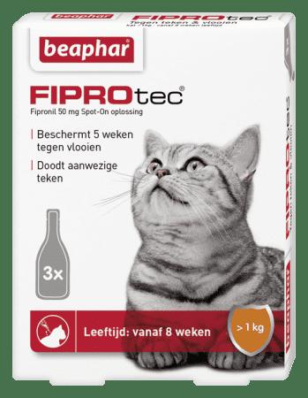 Beaphar Fiprotec kat vlooiendruppels 3 pipet