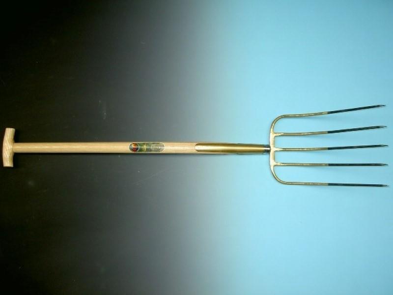 Mestvork Offner brons 5 tands met 90cm T-steel