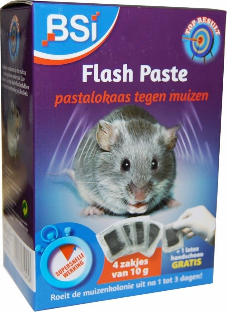 Flash Paste muizengif 4x10gr