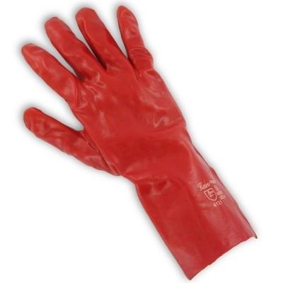 Werkhandschoen PVC rood 35cm