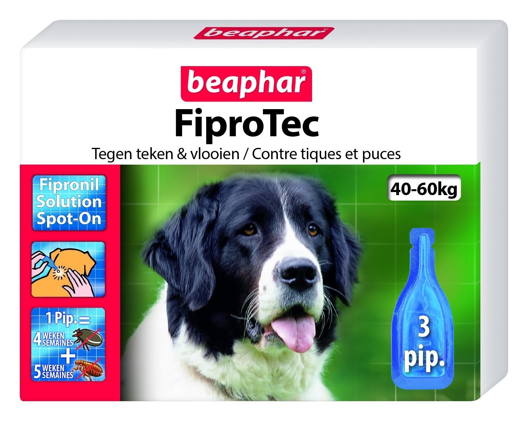 Beaphar Fiprotec hond vlooien/teken 40-60kg 3 pipet
